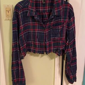 Cropped Plaid Shirt—worn once!